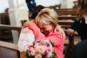 Emotion mère fille Eglise mariage
